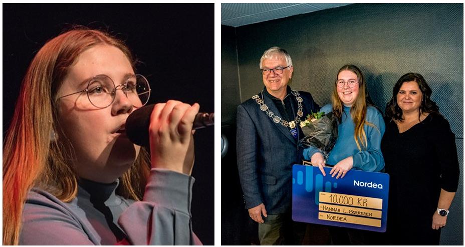Nordeas kulturskolepris til sangeren Hannah Løvstad Børresen